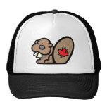 Castor canadiense gorro
