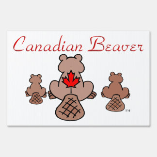 Castor canadiense letrero