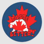 Castor canadiense pegatinas redondas