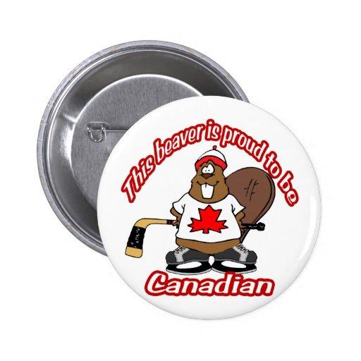 Castor canadiense pins