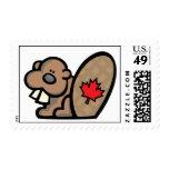 Castor canadiense sellos