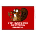 Castor canadiense tarjeta