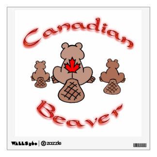 Castor canadiense vinilo decorativo