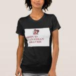 castor candian orgulloso camisetas