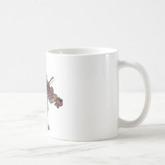 castor clásico taza básica blanca