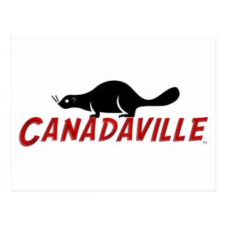 Castor de Canadaville Tarjeta Postal