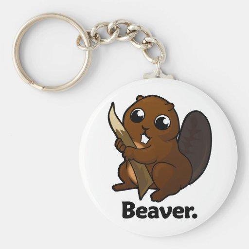Castor del castor llavero redondo tipo pin
