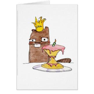 Castor del cumpleaños tarjeta de felicitación