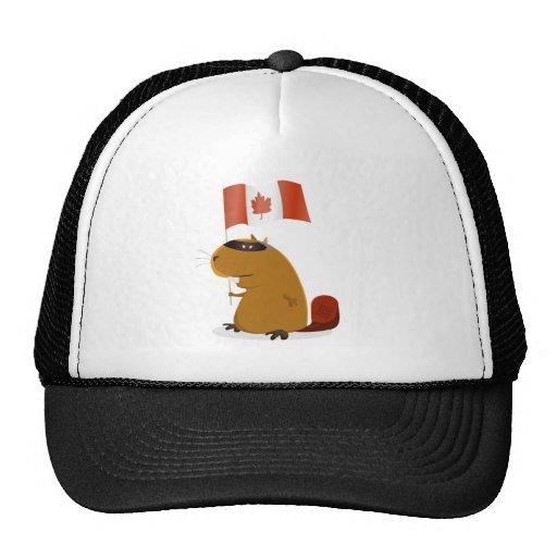 Castor del día de Canadá Gorros