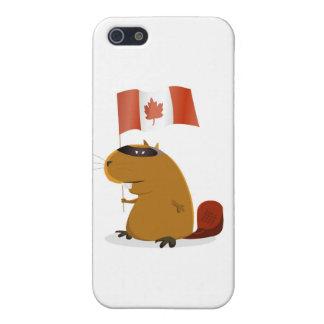 Castor del día de Canadá iPhone 5 Fundas
