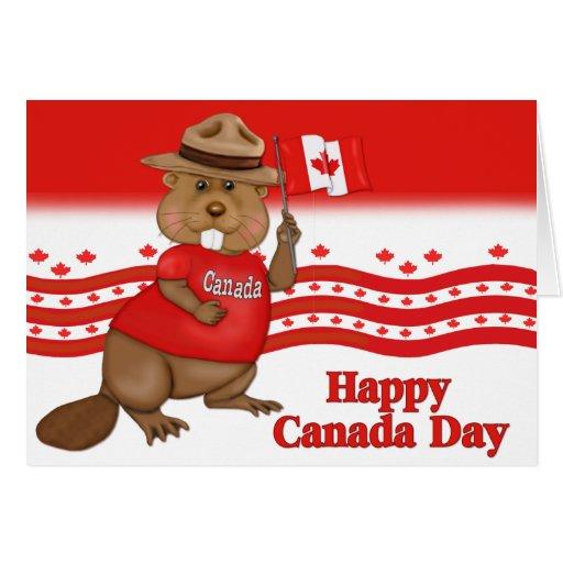 Castor del día de Canadá Tarjetón