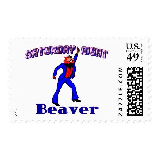 Castor del disco timbres postales