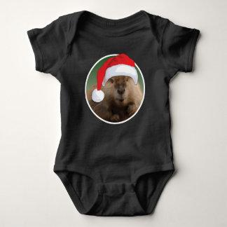 Castor del navidad - mono del jersey del bebé