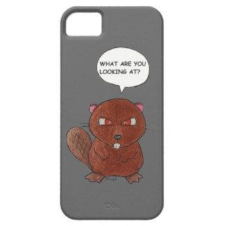 Castor enojado iPhone 5 fundas