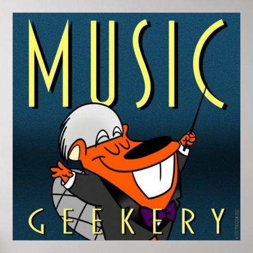 "Castor feliz 9"""" poster x9: Música Geekery"