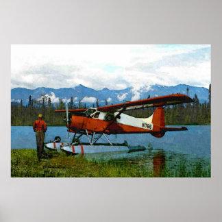 Castor Floatplane de Havilland Póster
