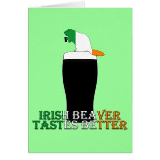 Castor irlandés divertido felicitacion