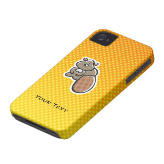 Castor lindo; Amarillo-naranja Case-Mate iPhone 4 Carcasa