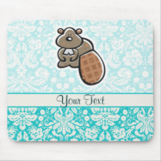 Castor lindo del dibujo animado tapete de ratones