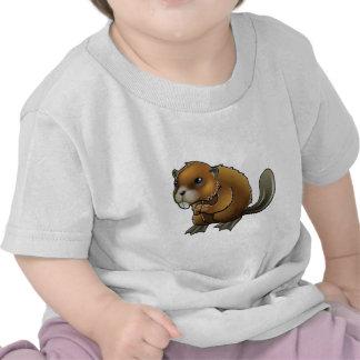 Castor lindo camisetas