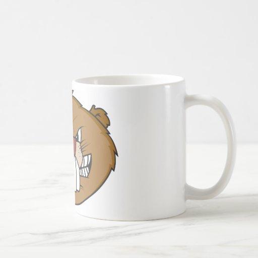 Castor lindo tazas de café