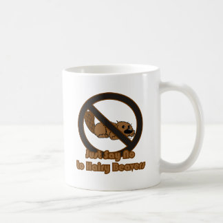 Castor melenudo taza de café