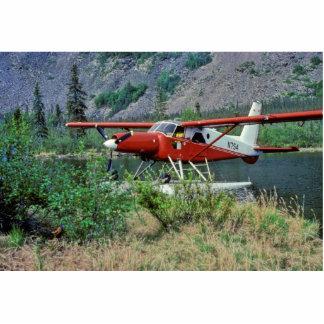 Castor N754 Floatplane de la turbina en el lago Fotoescultura Vertical