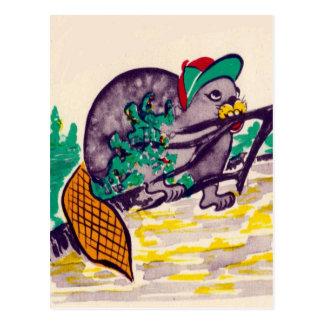 Castor ocupado tarjetas postales