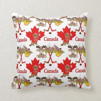 Castor orgulloso canadiense almohada