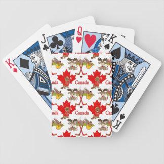 Castor orgulloso canadiense baraja cartas de poker