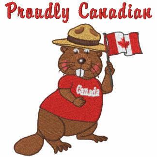 Castor orgulloso canadiense