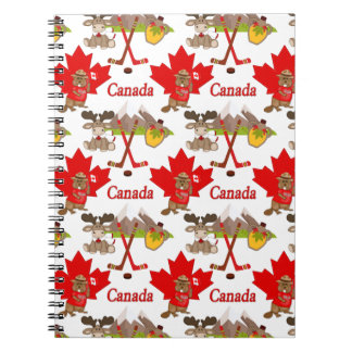 Castor orgulloso canadiense libreta espiral