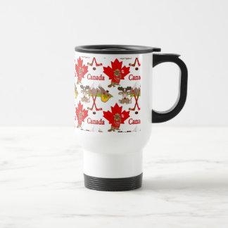 Castor orgulloso canadiense taza de viaje de acero inoxidable