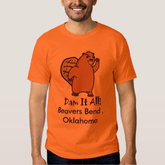 Castor-Pequeño, curva de los castores, Oklahoma Remera