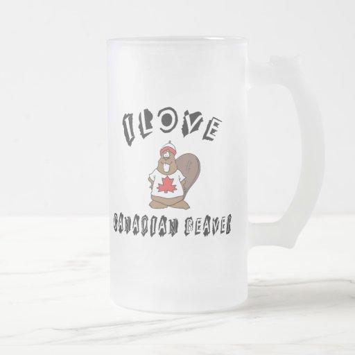Castor travieso del canadiense del amor de I Taza De Café