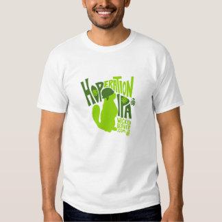 Castor travieso que elabora cerveza Co. Hoperation Camisas