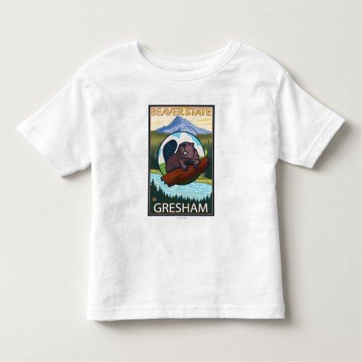 Castor y capilla del Mt. - Gresham, Oregon T Shirt