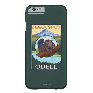 Castor y capilla del Mt. - Odell, Oregon Funda De iPhone 6 Barely There