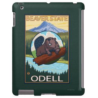 Castor y capilla del Mt. - Odell, Oregon Funda Para iPad