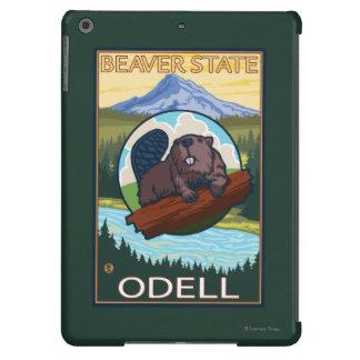 Castor y capilla del Mt. - Odell, Oregon Funda Para iPad Air