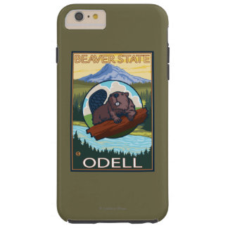 Castor y capilla del Mt. - Odell, Oregon Funda Para iPhone 6 Plus Tough