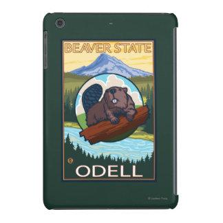 Castor y capilla del Mt. - Odell, Oregon Fundas De iPad Mini Retina