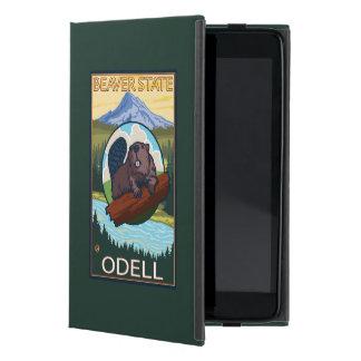 Castor y capilla del Mt. - Odell, Oregon iPad Mini Protector