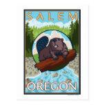 Castor y río - Salem, Oregon Postal