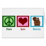 Castores del amor de la paz felicitación