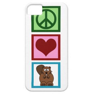 Castores del amor de la paz iPhone 5 carcasas