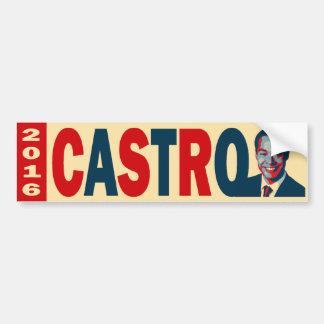 Castro 2016 pegatina de parachoque