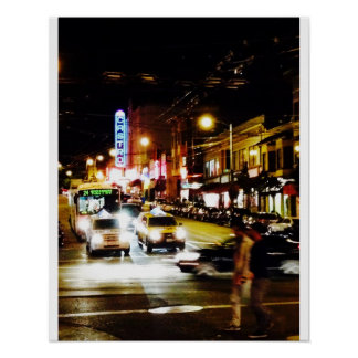 Castro at Night Poster
