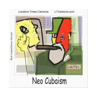 Castro cubista divertido impresión en lona