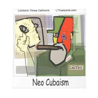 Castro cubista NeoCubaism divertido Bloc De Notas